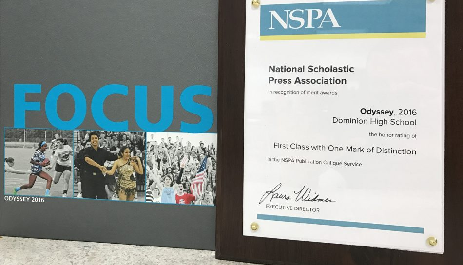 Yearbook Awarded First Class by NSPA
