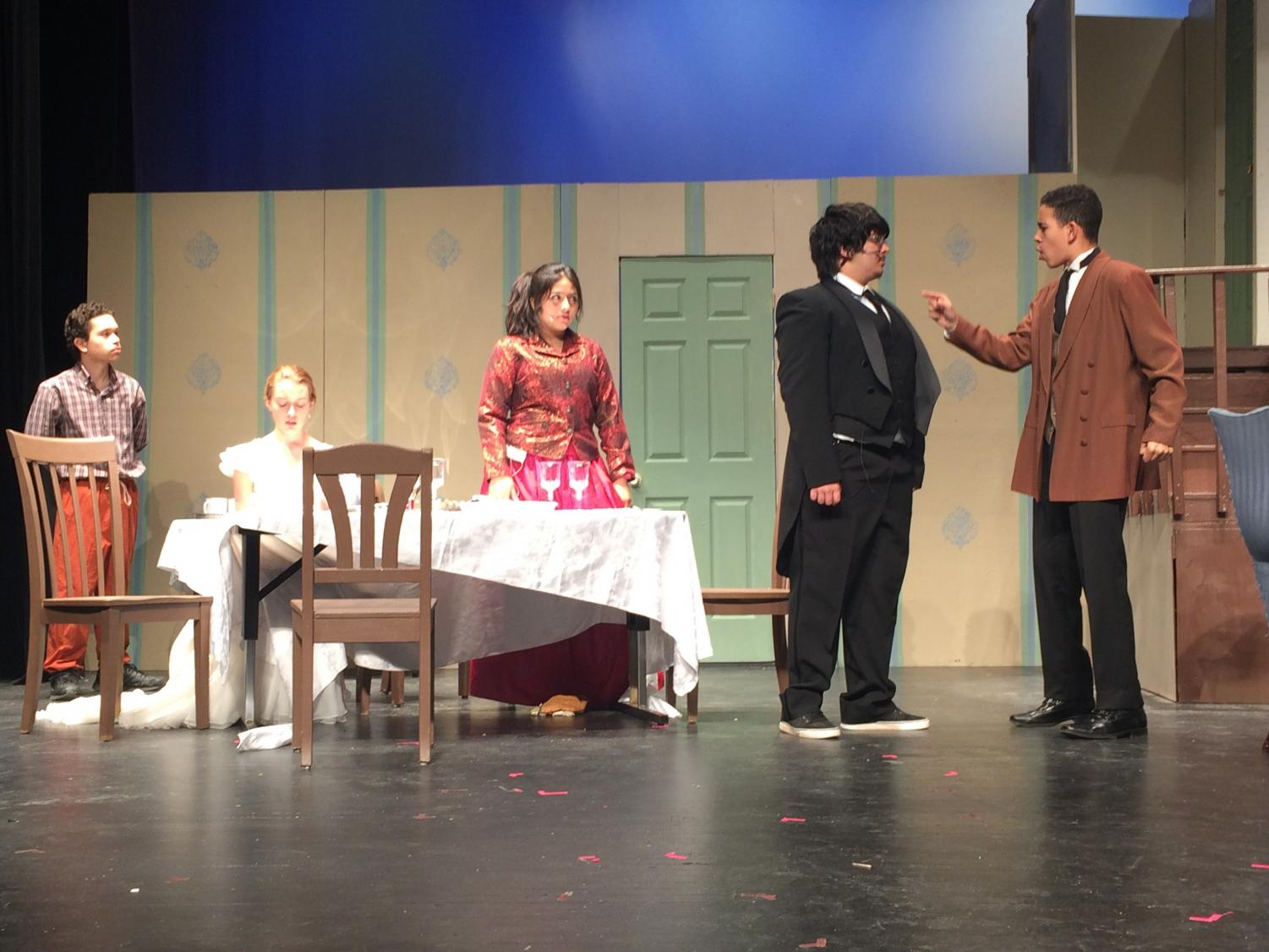 Ray Rodriguez as Percy, Rebecca Williamson as Kate, Kimberly Rodriguez as Aunt Ev, Josh Noah as Capt. Keller, Josh Thomas as James starred in the Dominion production of The Miracle Worker.