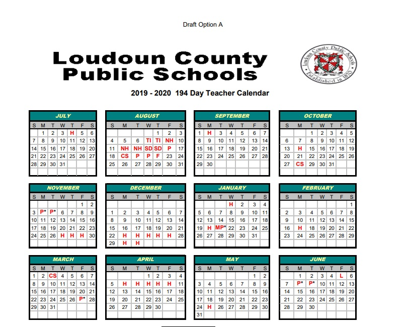 Loudoun County Public Schools Calendar 2020 School Board to Consider 2 Calendar Options for 2019 2020 School