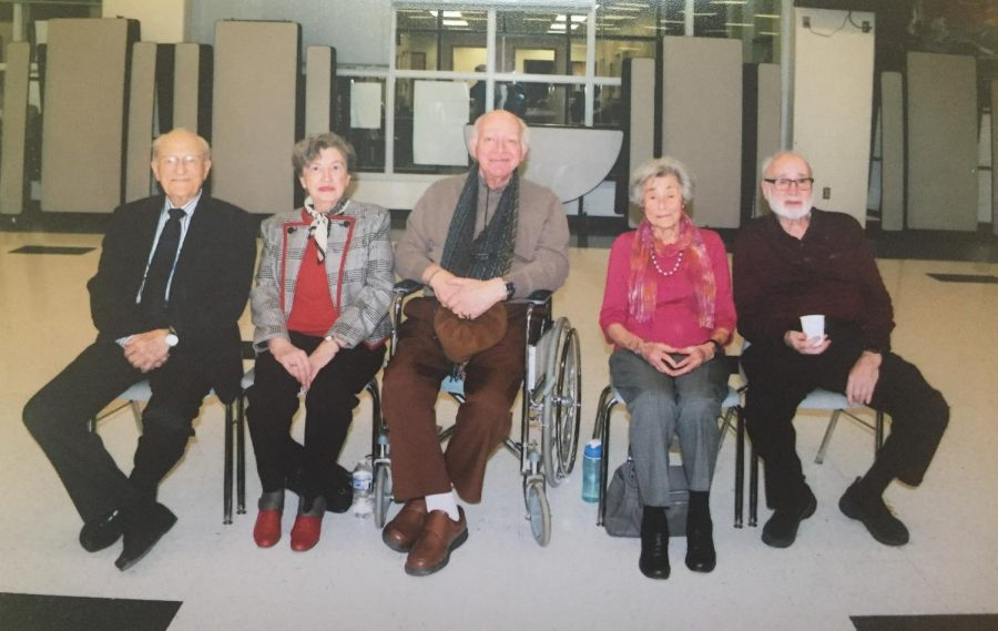 The+Holocaust+survivors+sit+down+before+the+%22Adopt-a-Survivor%22+program+starts.+Left+to+Right%3A+Irving+Roth%2C+Klara+Sever%2C+Jacques+Wagschal%2C+Margit+Meissner%2C+and+John+Grausz.+