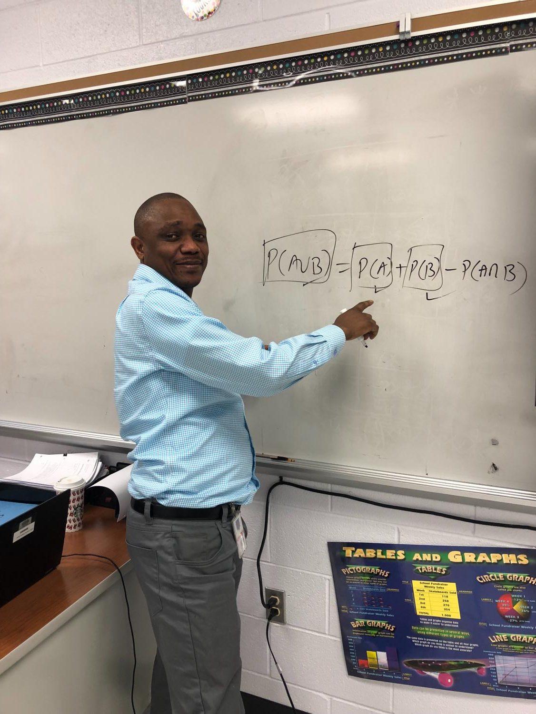 Mr. Kamfwa is a statistics teacher at Dominion.