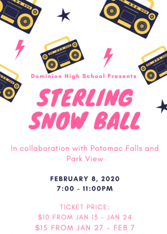 The Sterling Snowball dance is a collaboration between Dominion, Potomac Falls, and Park View.
