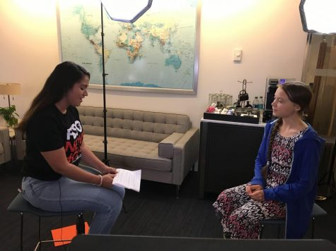 Ramos Interviewed Greta Thunberg when she traveled to the DC Climate Strike.