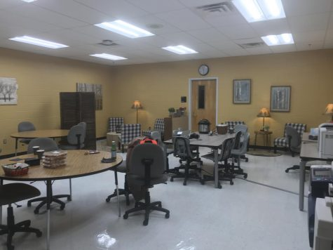 The workroom was remodeled by the wellness team.