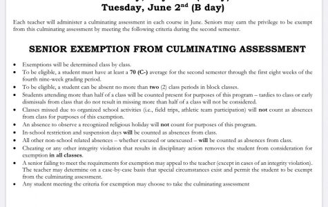 Senior exemption rules as currently constructed.