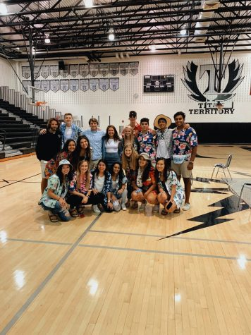 SCA posing together during one of the spirit days.