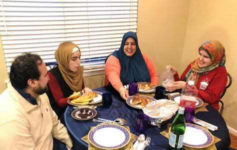 The Khan family enjoying dinner together during this very unique Ramadan.