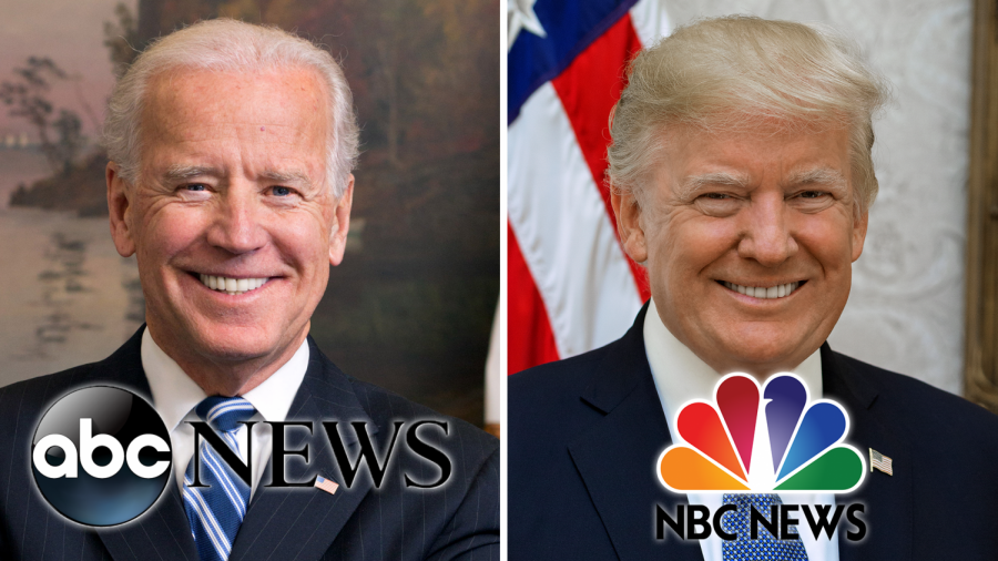 Biden+and+Trump+hosted+town+halls+at+the+same+time+last+Thursday%2C+addressing+questions+for+the+host+and+voters.