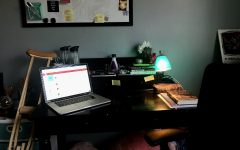 My home work space where I will continue for the rest of the year.