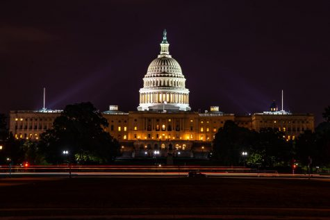 The Capitol at night in 2018 before the assault on it on January 6.