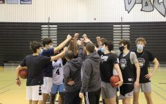 Coming together at the end of their morning practice, the boys team convincingly beat Indy last night.