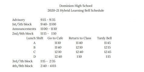 Bell Schedule to Change on January 21