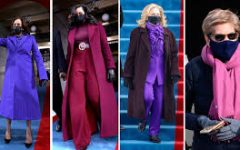 Purple dominated the stage on Inauguration Day.