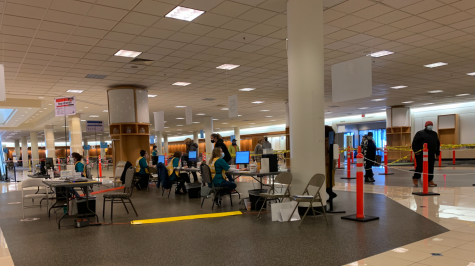 The Dulles Mall serves as a county vaccination POD.