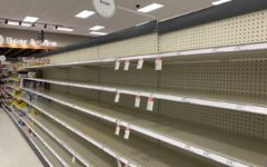 The aisles of Target were picked through a year ago as no one knew what would happen each day.