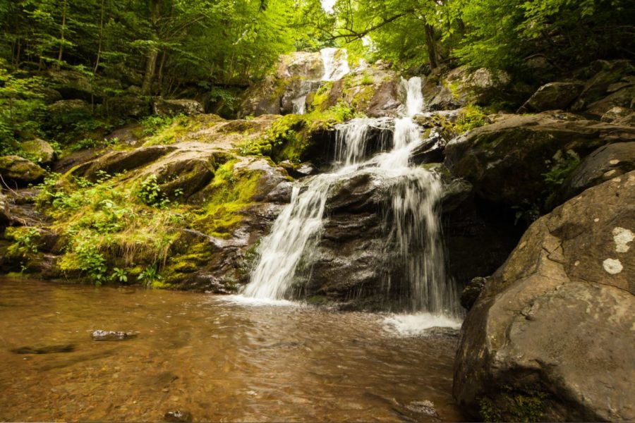 Shenandoah National Park provides picturesque spots, including this waterfall.