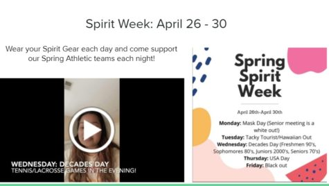 The slide presented to students during Advisory on Thursday promoting Spirit Week.