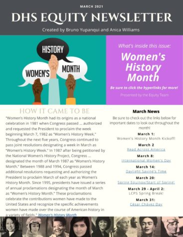 The March Equity newsletter highlights Women