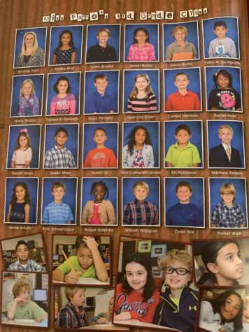 The 2nd grade class of Ms. Farro, who helped Caelan through a tragic time in her life.