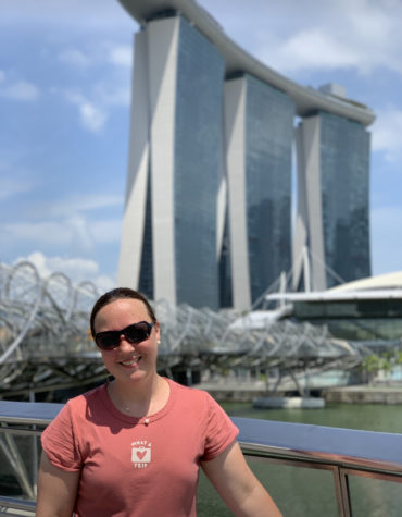 Mrs. Lupas on the trip to Singapore for the Global Summit.