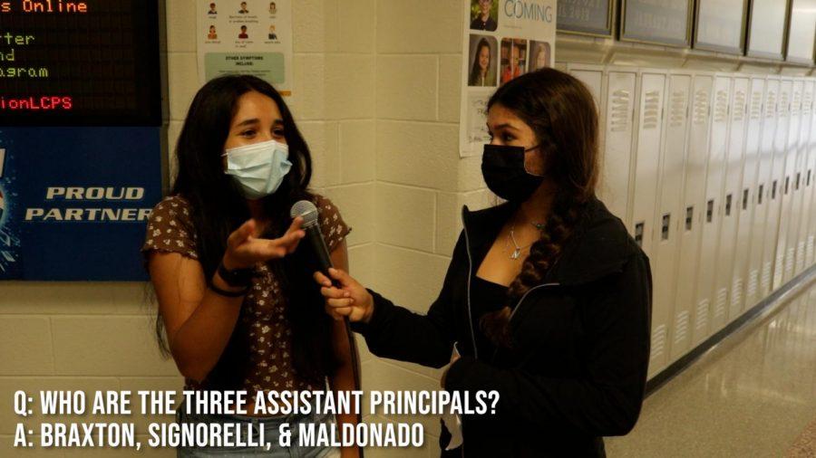 Nicole, Aidan and Zorana quiz students on how well they know Dominion.